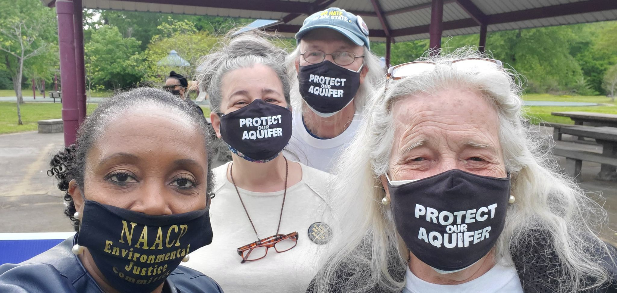 Memphis has the Power Organizer Pearl Eva Walker gathers with members of the Protect Our Aquifer group at a rally against the Byhalia Pipeline (Photo: Pearl Eva Walker)