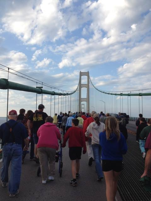 Mackinaw Bridge March, September 2014 (Photo: FLOW For Love of Water)
