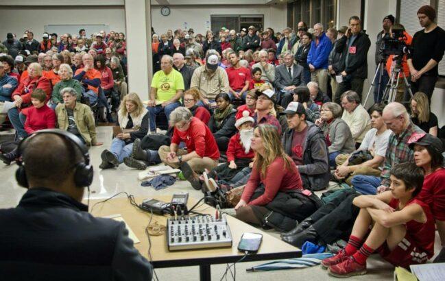 2104 FERC hearing, Medford, OR (Photo: No LNG Exports)
