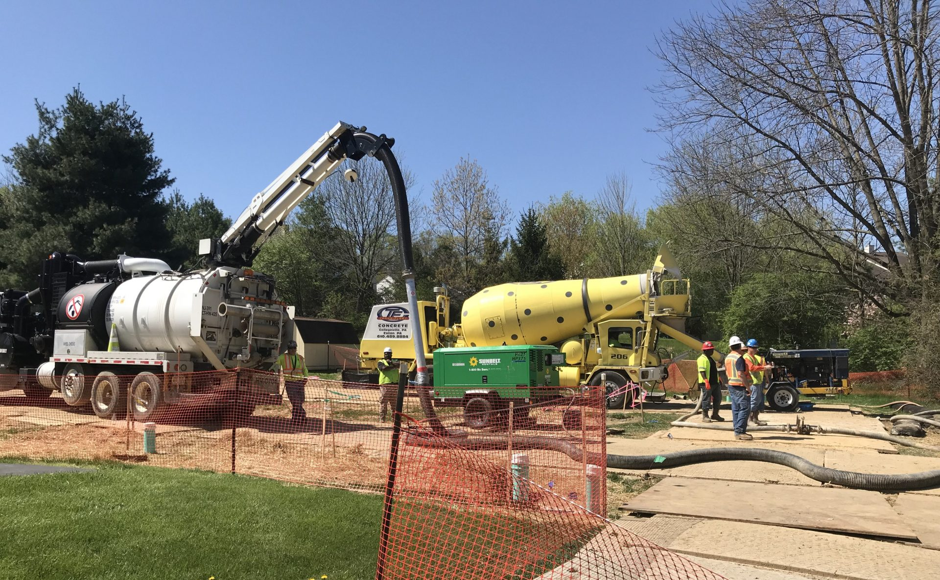 Construction on the Mariner East 2 pipeline has faced myriad problems, including damaged water supplies and sinkholes in a residential neighborhood in Chester County (Photo: Marie Cusick / StateImpact PA)