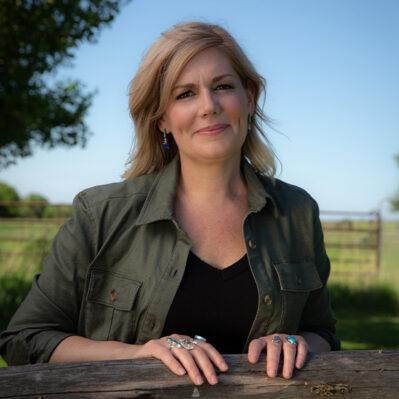 Portrait of Jane Kleeb in rural Nebraska