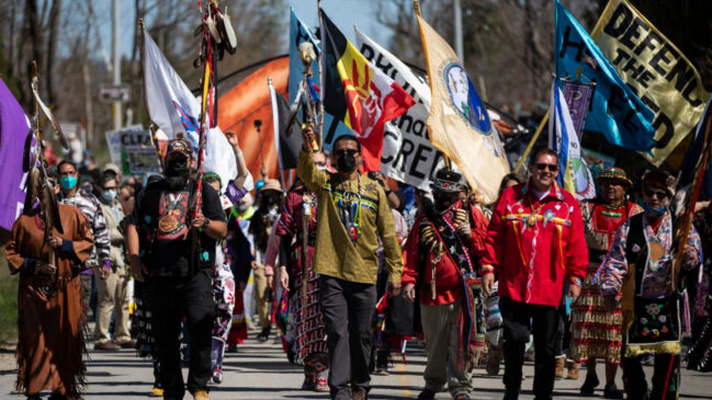 Indigenous-led march to