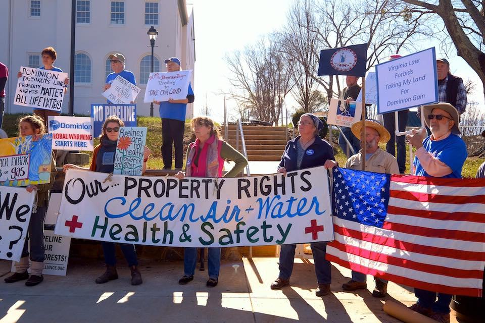 Atlantic Coast Pipeline Rally, February 2017 (Photo: Friends of Nelson County, VA)